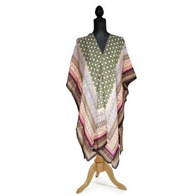 Two's Company Moorish Pattern Long Kimono