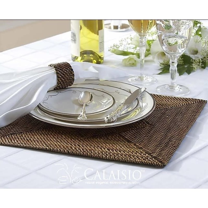 Calaisio Calaisio Square Placemat with Diamond Pattern-set of 4