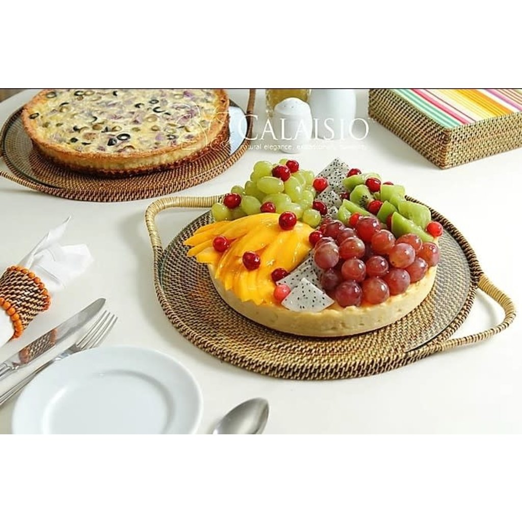 Calaisio Calaisio Round Serving Tray with Glass Bottom
