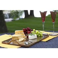 Calaisio Calaisio Rectangle Tray with Glass Small