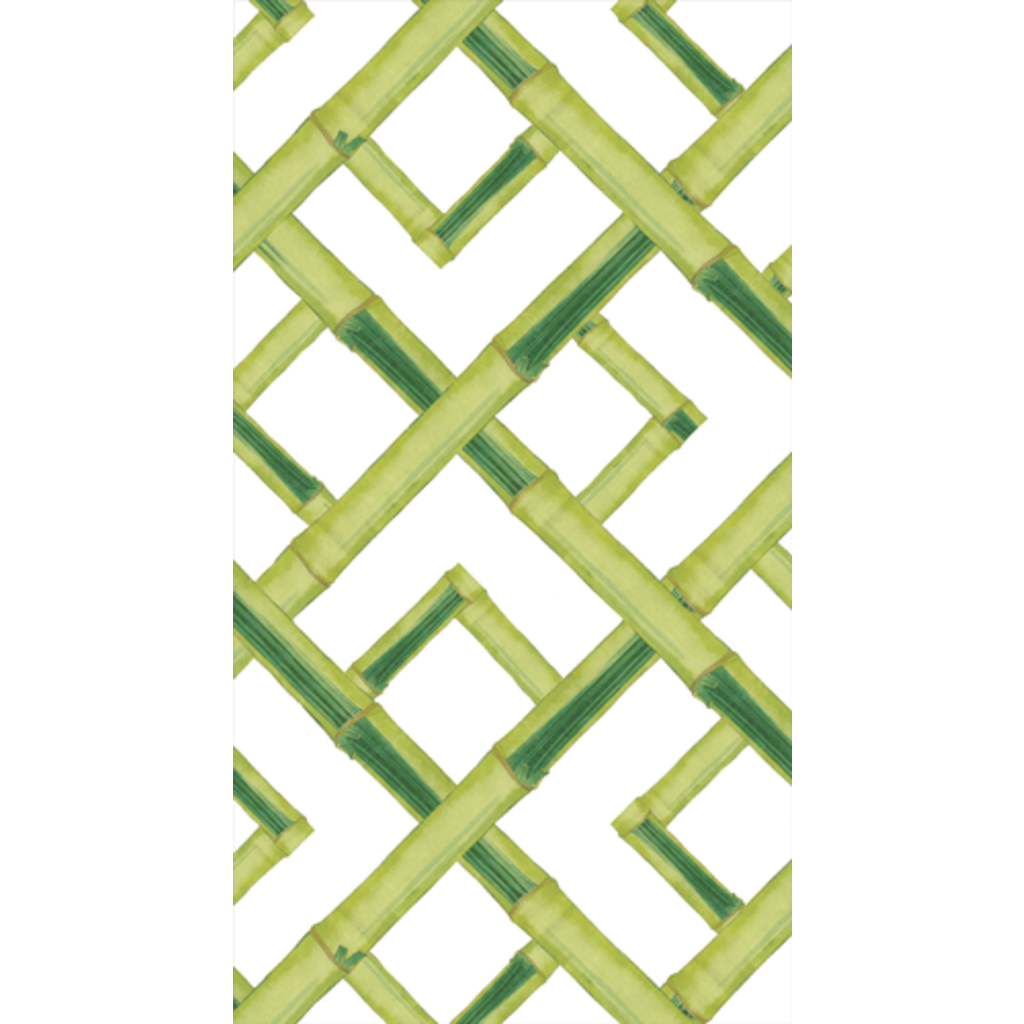 Caspari Bamboo Green Guest Towel