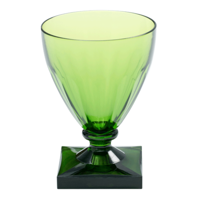 Caspari Caspari Acrylic Wine Goblet Crystal Emerald