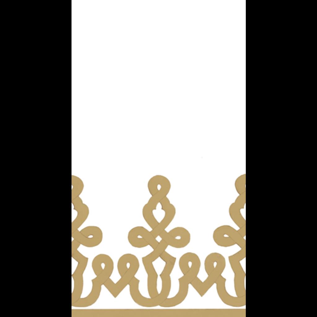 Caspari Caspari Dessin Passementerie Gold Guest Towel