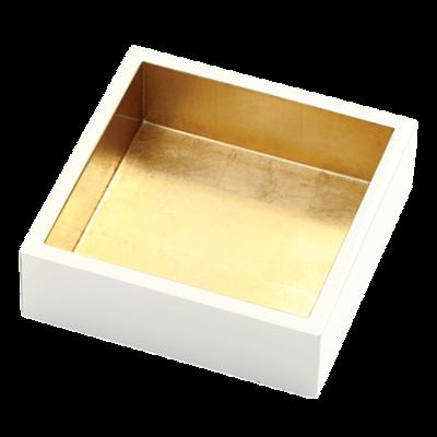Caspari Caspari Ivory with Gold Lacquer Cocktail Holder