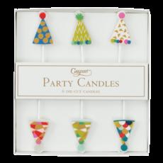 Caspari Die-Cut Party Candles- Party Hats