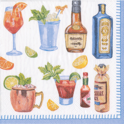 Caspari Happy Hour Napkin