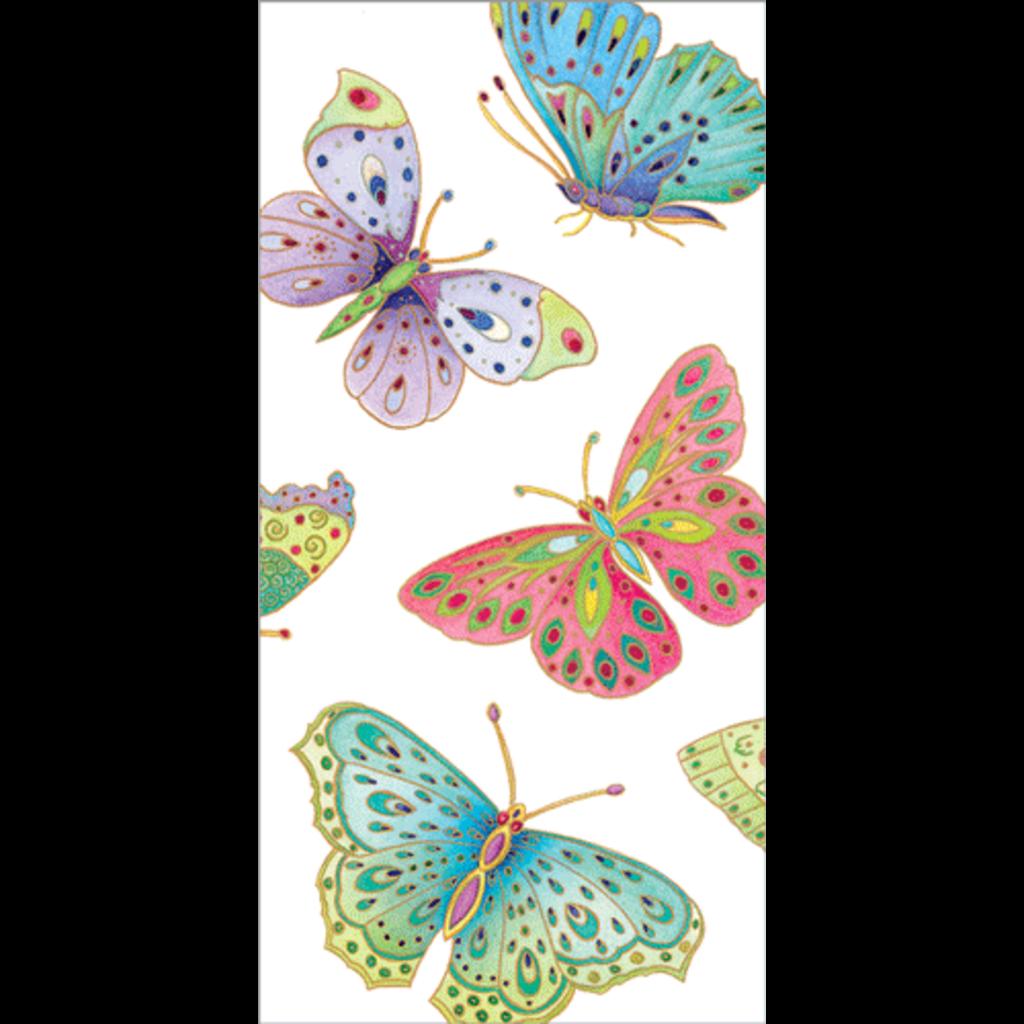 Caspari Jeweled Butterflies Hankies