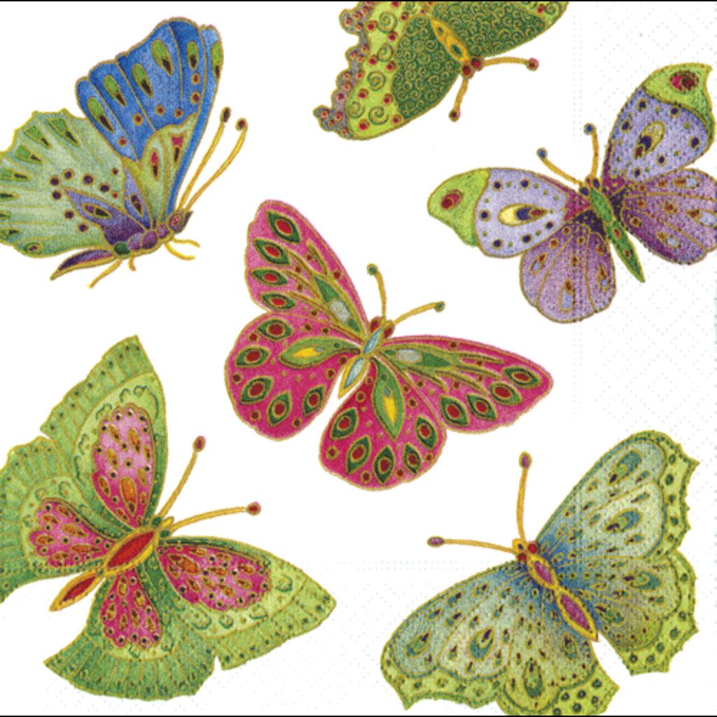 Caspari Jeweled Butterflies