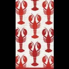 Caspari Lobsters Guest Towel