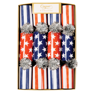 Caspari Red White and Blue- Cone Crackers