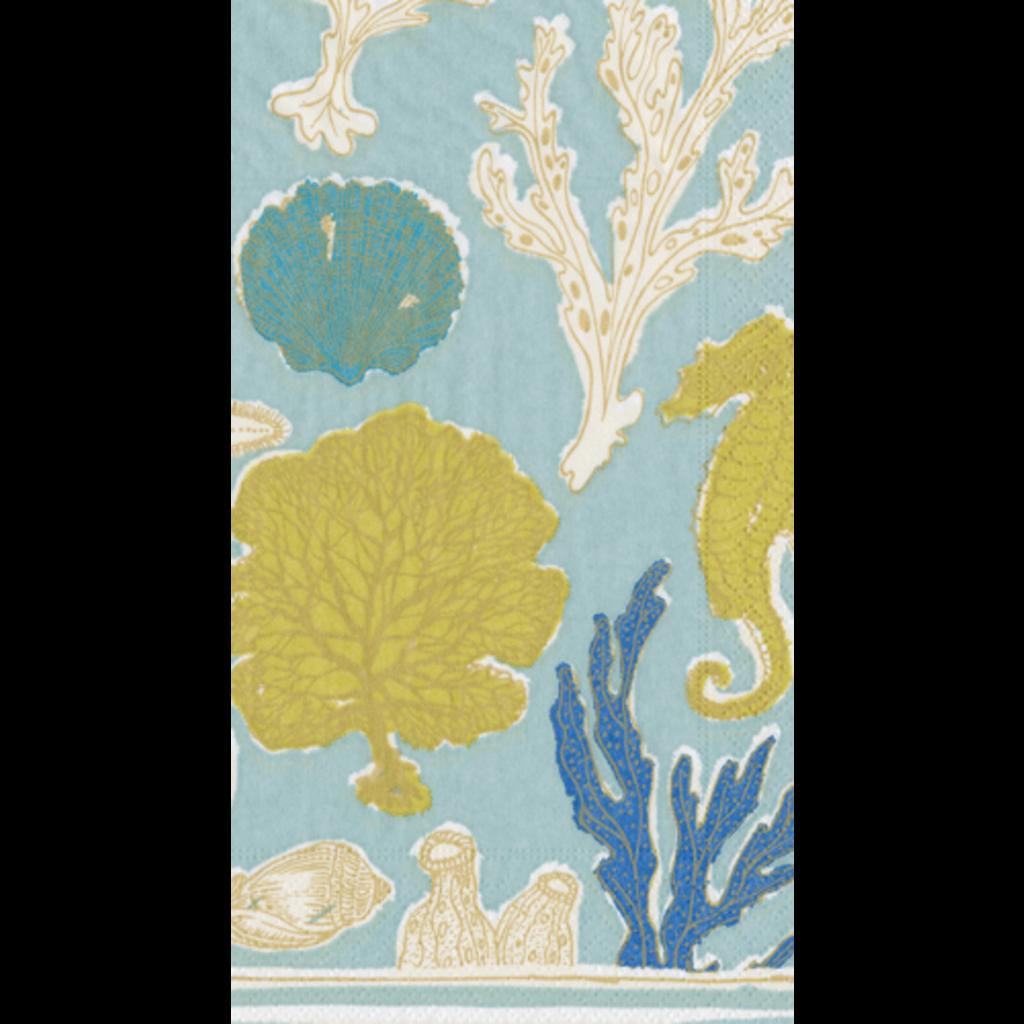 Caspari Sealife Aqua Guest Towel