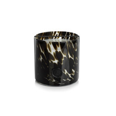 Zodax AG Opal Glass Three Wick Candle Black Fig Vetiver