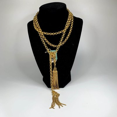 Laura McClendon Laura McClendon Long Chain Necklace with Tassel