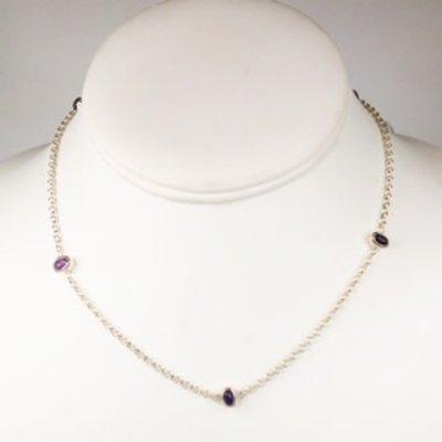 CC Gotz CC Gotz Amethyst Link Chain Necklace