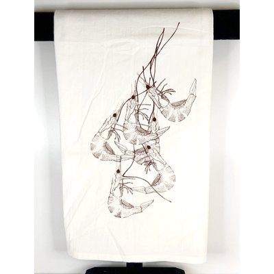 Masue Shrimp Print Tea Towels