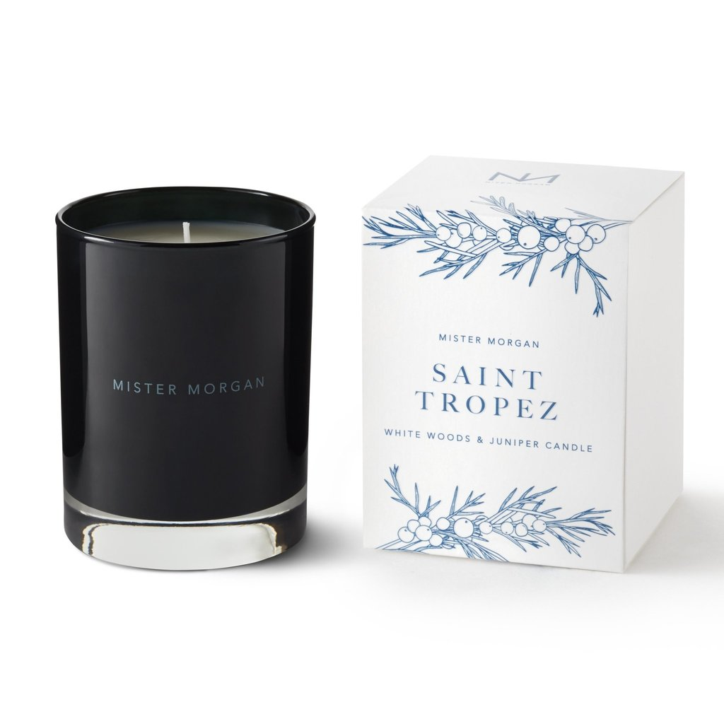 Niven Morgan St. Tropez Candle- White Woods & Juniper
