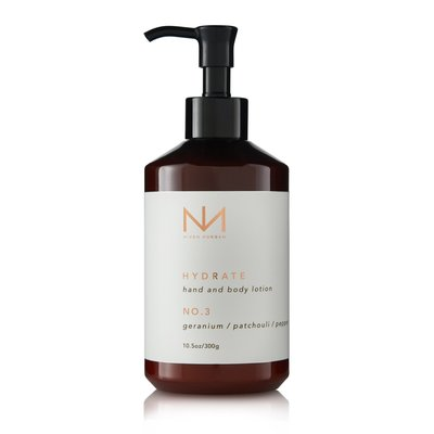 Niven Morgan No. 3 Hand and Body Lotion Crushed Geranium, Patchouli and Pepper