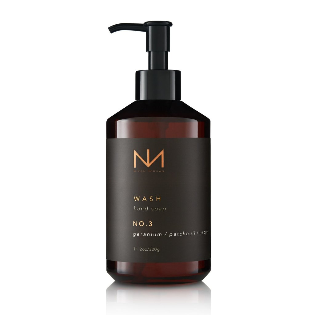 Niven Morgan No. 3 Hand Soap Crushed Geranium, Patchouli and Pepper