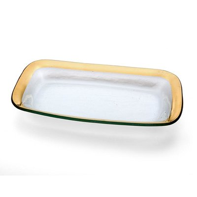 Annie Glass Annie Glass 11 x 7'' REC ASPARAGUS BOWL-GOLD