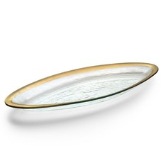 Annie Glass Annie Glass 25'' x 11'' FISH PLATTER - GOLD