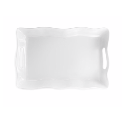 Q Squared Ruffle 18'' X 12'' Rectangle Serving Platter