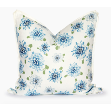 Honey and Hank Fifty State Blue Hydrangea Square Pillow