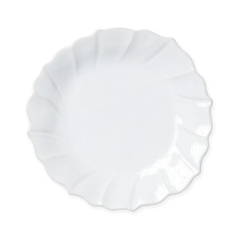 Vietri INCANTO STONE WHITE RUFFLE SALAD PLATE