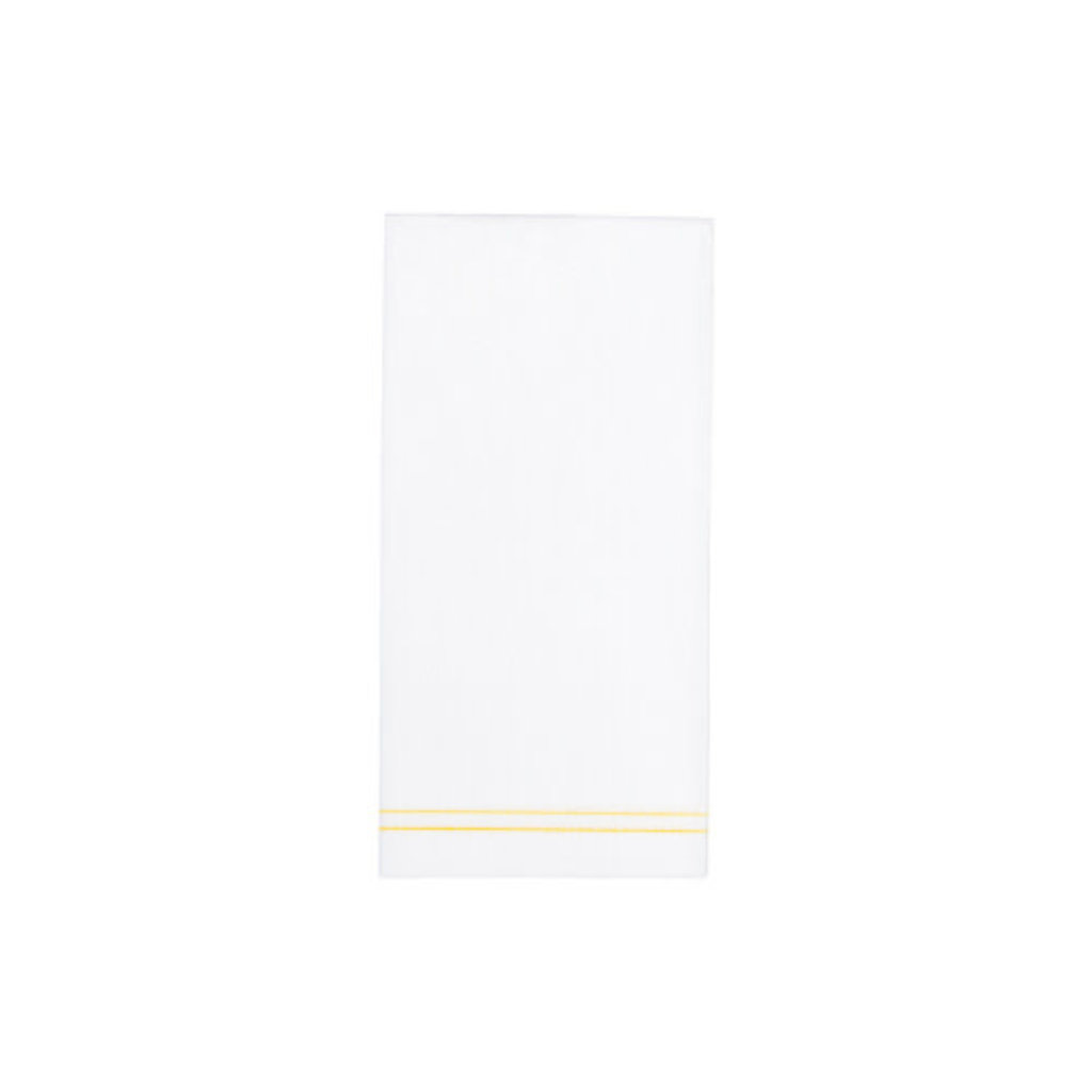 Vietri PAPERSOFT NAPKINS LINEA YELLOW GUEST TOWELS (PACK OF 50)