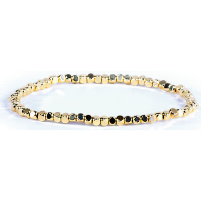 My Fun Colors Gold Bead Bracelet