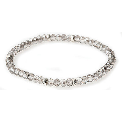 My Fun Colors Mini Crystal Bracelet - Black Diamond Crystal / Silver Accent