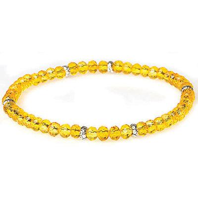 My Fun Colors T.C. Mini Crystal Bracelet - Dandelion / Silver Accent