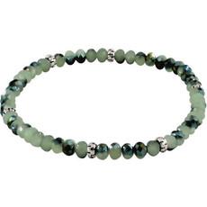 My Fun Colors Mini Crystal Bracelet - Twilight Sage / Silver Accent