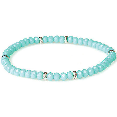My Fun Colors Mini Crystal Bracelet - Sea Mist Crystal / Silver Accent
