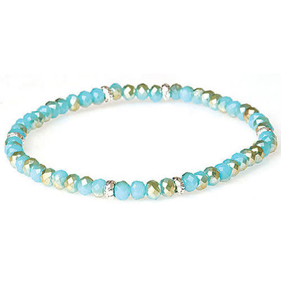 My Fun Colors Mini Crystal Bracelet - Sand & Sea Crystal / Silver Accent