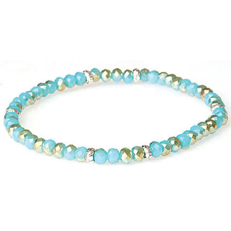 My Fun Colors Mini Crystal Bracelet - Sand & Sea Crystal / Silver Accent