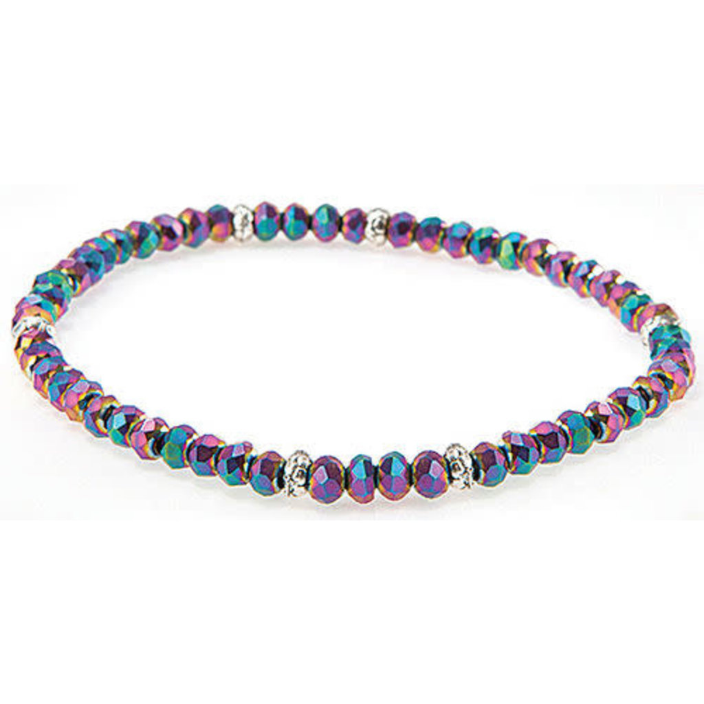 My Fun Colors Mini Crystal Bracelet - Harlequin Crystal / Silver Accent