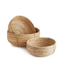 Napa Home and Garden Napa Cane Rattan Low Basket Small