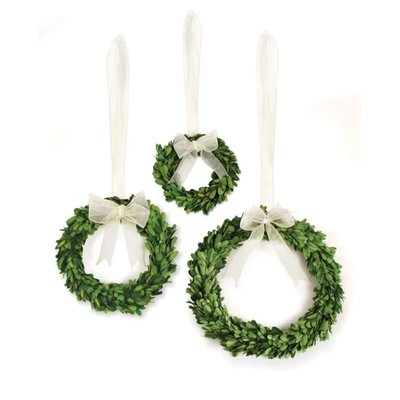 Napa Home and Garden Wreath with White Ribbon Small