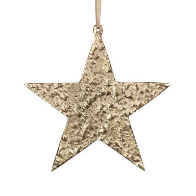 Zodax RAW ALUMINUM STAR ORNAMENT - GOLD / SM ZODAX
