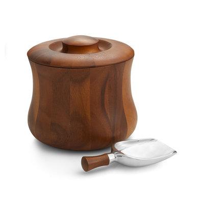 Nambe Nara Ice Bucket w/ Scoop