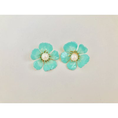 Pink Reef Pink Reef Small Mint Floral with Pearl