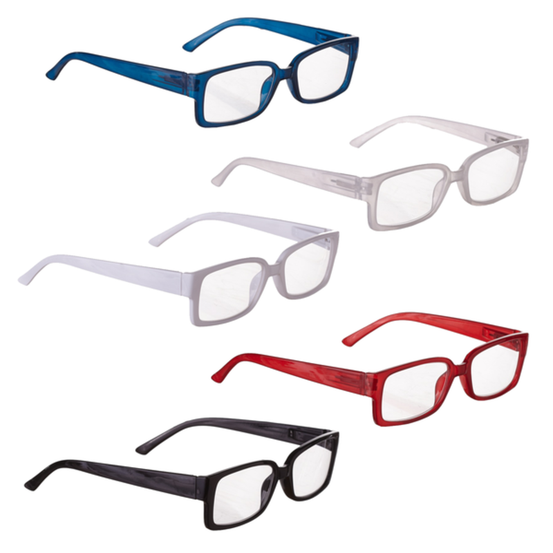 Ganz BOXED READERS5A PLASTIC Colored Hipster Readers with Printed Slide Box (5 asstd)
