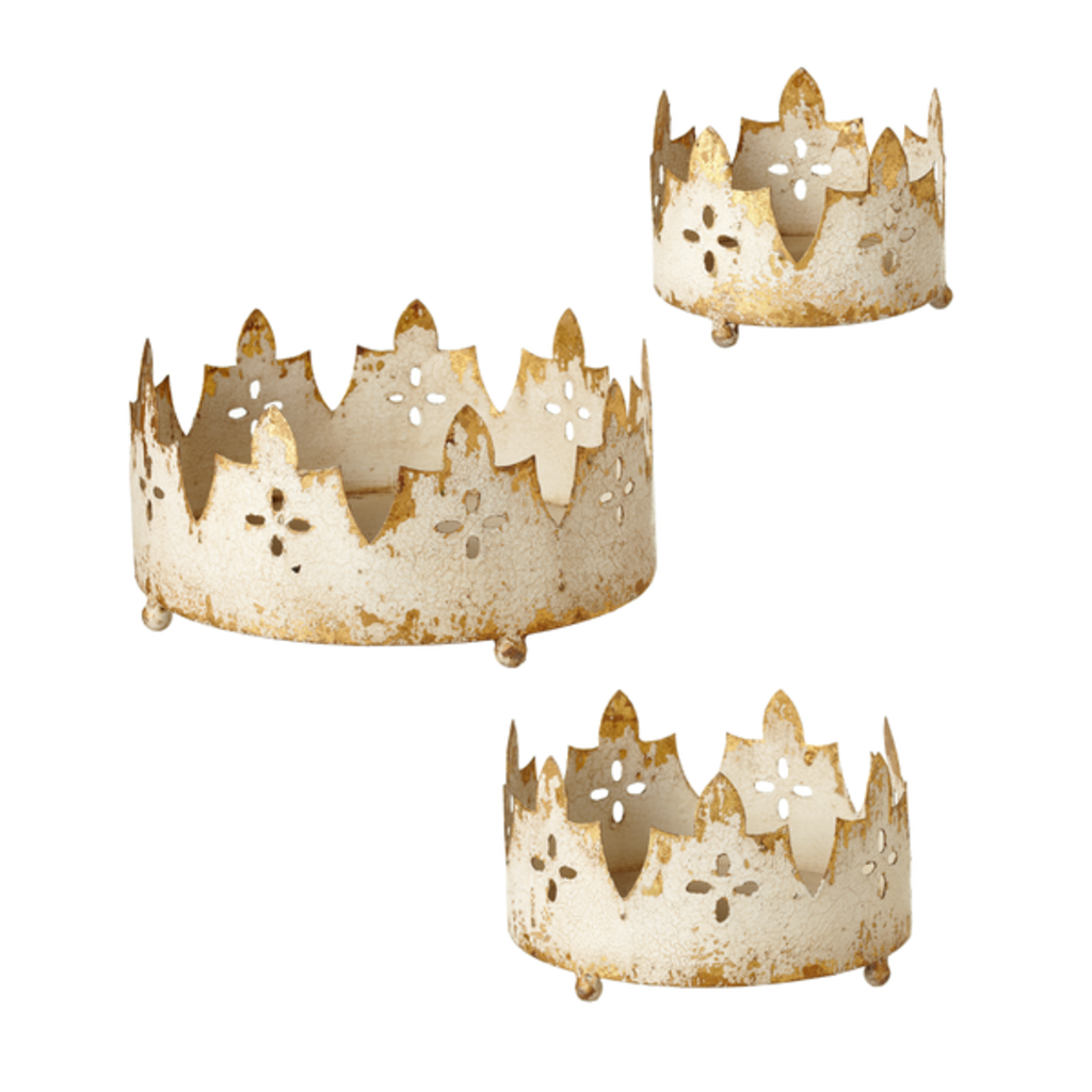 Ganz Large Distress Ivory Crown