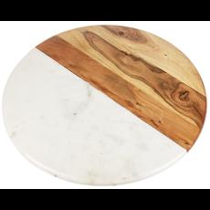Ganz Marble & Wood Lazy Susan