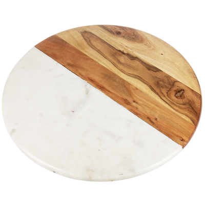 Ganz Marble & Wood Lazy Susan