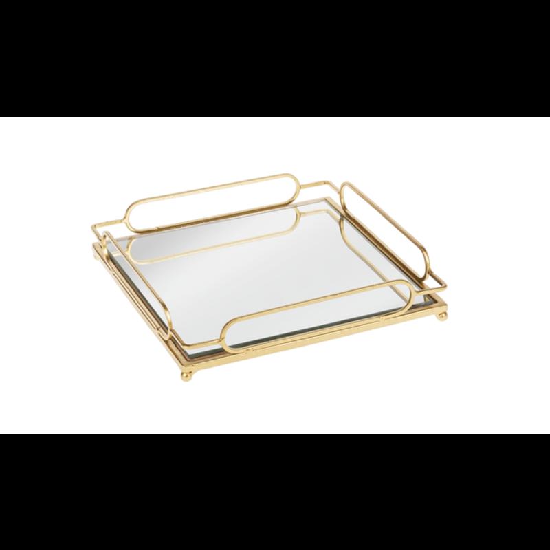 Ganz Gold Loop Mirror Tray Small