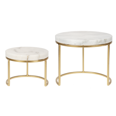 Ganz Gold Marble Cake Stand Small