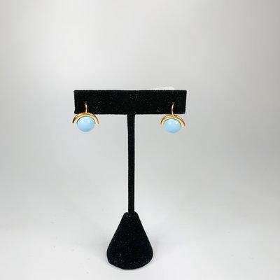 Catherine Canino Baby round turquoise polished 14 karat gold