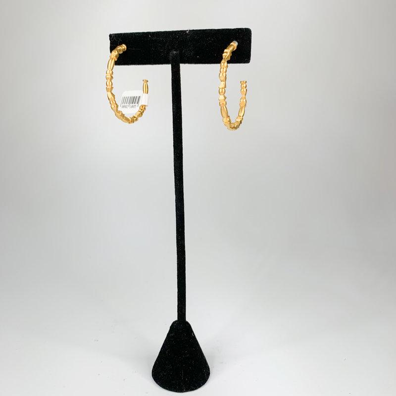 Catherine Canino Catherine Canino Medium Brancusi hoop in matte gold