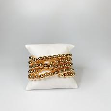 Catherine Canino Large gold bead stretchy bracelet